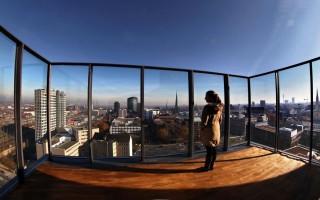 Panorama / Skyline vom U Turm / U Turm Terrasse [Foto: Dieter Menne, RN Datum: 15.11.2011]